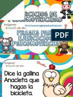Ejercicios de Psicomotricidad Frases Para Ejercicios Psicomotrices PDF
