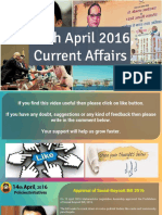 14 April 2016 Current Affairs for Competition Exams