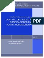 Control de Calidad y Dosificaciones en Planta Hormigonera