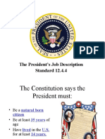 PPT the Presidents Jobs