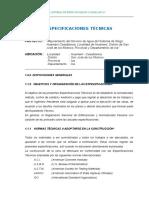Especificaciones Tecnicas Irrigacion Los Molinos