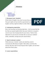 25 Worst TEFL Mistakes