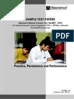 Wisdom Sample Test Paper 2016
