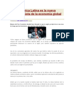 América Latina Es La Nueva Protagonista de La Economía Global