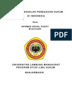 Makalah Masalah Penegakan Hukum Di Indonesia