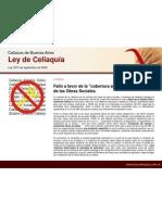 Fallo Obras Sociales - Ley de Celiaquia - Ciudad de Buenos Aires
