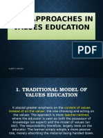 Approaches in Values Ed and Valuing Process