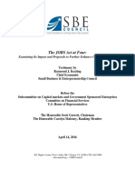 SBE Council Testimony Subcommittee on Capital Markets 4.14.16