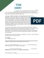 introduction parent letter second placement
