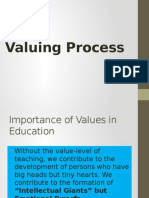 Valuing Process