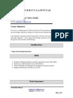 Zuber Shaikh Resume