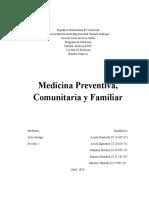 Medicina Preventiva, Comunitaria y Familiar.