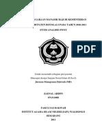 Penyelenggaraan Manasik Haji Di Kementrian Agama Kabupaten Boyolali Pada Tahun 2010-2011 Studi Analisis SWOT