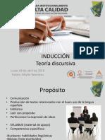 Inducción Teoría Discursiva 2016-2