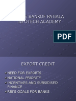 Presentation on Export Credit