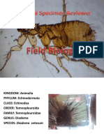 Specimen Reviewer Field Bio
