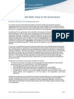 How Internal Audit Adds Value to the Governance Process