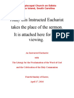 Instructed Eucharist