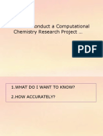 How to conduct a Computational Chemistry project