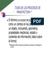 Estructura de Los Procesos de Manufactura