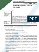 NBR 11742 - Porta Corta-fogo Para Saida de cia