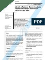 NBR 13202 - 1997 - Materiais Refratários - Determinação da Resistência ao Choque Térmico com Resfriamento em Água