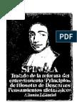 Spinoza, Baruch de - Tratado de La Reforma Del Entendimiento. Principios de Fiosofia de Descartes. Pensamientos Metafisicos