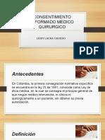 Consentimiento Informado Medico Quirurgico
