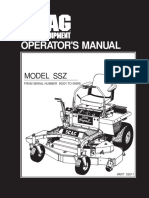 Scagg 1995 SSZ Owners Manual