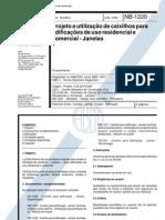 NBR 10831 - (NB 1220) - Projeto e Utilizacao de Caixilhos Para Edificacoes de Uso Residencial e Comercial - Janelas