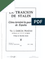 García Pradas, José - La Traición de Stalin. Cómo Terminó La Guerra de España [Ediciones de Cultura Proletaria, 1939]
