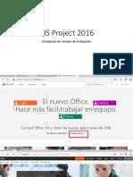 MS Project 2016 - Instalación de Versión de Prueba