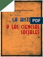 Fernand Braudel La Historia y Las Ciencias Sociales