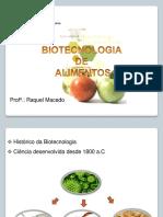 Importância Da Biotecnologia Na Produção de Alimentos