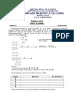 2014 Chimie Nationala Clasele IX-XII Baraj Chimie Organica 2 Subiecte