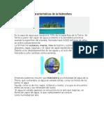 Características de La Hidrosfera