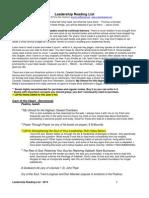 Leadership Reading List 2010