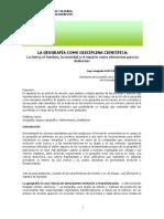 Luis Carlos Jiménez Reyes, Geografía Como Disciplina Científica