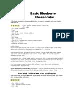Basic Blueberry Cheesecake