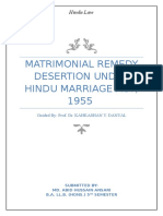 Matrimonial Remedies