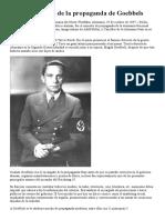 Los 11 Principio de La Propaganda de Goebbels