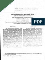 Epistemología de La Innovación - 2011 AYESTARAN