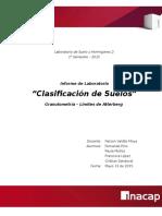 Informe Laboratorio - Clasificación de Suelo