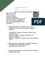 Ficha Cátedra Benedicto
