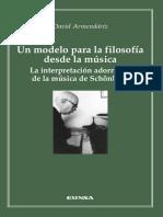 Adorno - Armendáriz, Un Modelo Para La Filosofía Desde La Música. La Interpretación Adorniana de Schönberg