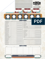 Force and Destiny - Character Sheet