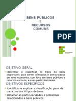 bENS PUBLICOS E RECURSOS COMUNS