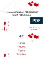 Penatalaksanaan Perdarahan Pasca Persalinan