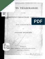 Kants teleologie