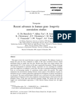 Recent advances in human gene–longevity association studies